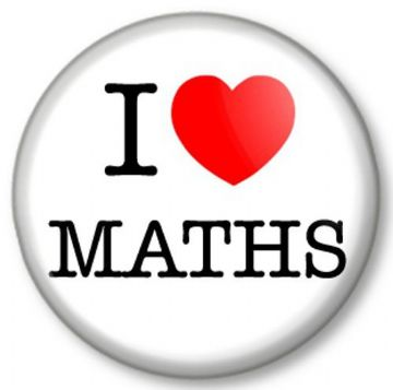 I Love / Heart MATHS Pinback Button Badge Favourite School College University Subject Kids